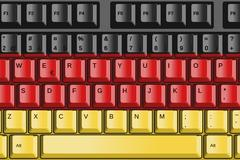 Computer keyboard with germany flag concept Stock Illustration