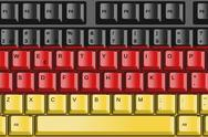 Stock Illustration of computer keyboard with germany flag concept