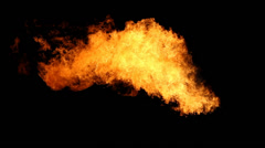 Fire on a Hydraulic Fracturing Site (Fracking) Stock Footage