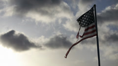 Torn American Flag Stock Footage