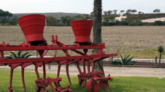 Old farm machinery Stock Footage