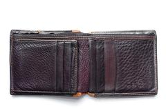 Leather wallet isolated Stock Photos
