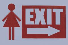 Stock Illustration of exit board