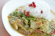 Stock Photo of rice and curry, thai cuisine