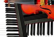 Stock Illustration of classic instument concept background, violin and piano