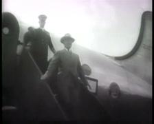 1945 - Potsdam Conference - Harry S. Truman - Arriving Berlin 01 Stock Footage
