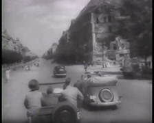 1945 - Potsdam Conference - Harry S. Truman - Visiting Destroyed Berlin 01 Stock Footage