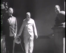 1945 - Potsdam Conference - The Big Three - Truman Churchill Stalin 01 Stock Footage