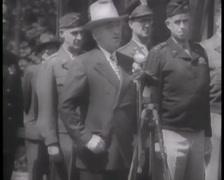 1945 - Potsdam Conference - Truman Speech In Berlin Part1 Stock Footage