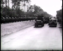 1945 - Potsdam Conference - US 2. Army Division Inspection Berlin 01 Stock Footage