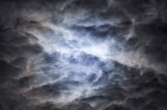 clouds in the night sky - stock photo