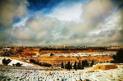 Overview of old city in jerusalem, israel Stock Photos