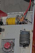 fire truck seen from above - stock photo