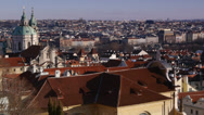 Stock Video Footage of Cityscape of Prague. View from Prague castle. panorama