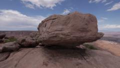 Stock Video Footage of Rock Overlook Canyonlands National Park