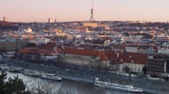 Television Tower in Prague, Czech republic Stock Footage
