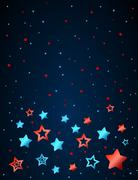 Cartoon star colored background Stock Illustration