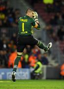 Victor Valdes of FC Barcelona - stock photo