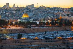 overview of old city in jerusalem, israel - stock photo