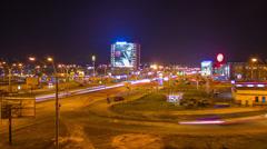 Kyiv  crossroad timelapse night  4K (3840*2160) Stock Footage