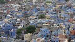 Jodhpur blue city view in India Stock Footage