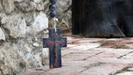 Stock Video Footage of Stone rosary pan close up