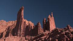 Desert Rock Tower Adventure Stock Footage