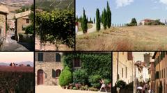 Tuscany, montalcino Stock Footage