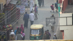 Busy day in Agra Stock Footage