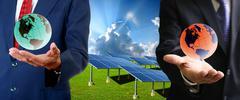Stock Illustration of solar cell business