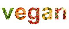vegan vegetables and fruits - stock illustration