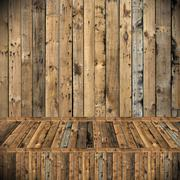 Wooden texture background, Room interior decorate - stock photo