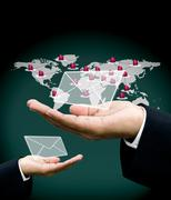 Stock Illustration of Send order with email concept