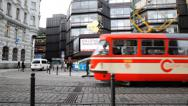 Stock Video Footage of Prague Street Tram