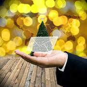 Stock Illustration of Greeting email in Christmas day
