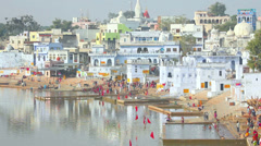 City of Pushkar Stock Footage