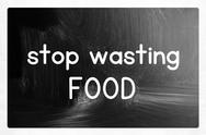 Stock Illustration of stop wasting food