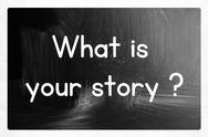 Stock Illustration of what is your story?