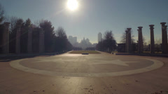 Stock Video Footage of Nashville Capitol Mall Bright Sun 1 HD