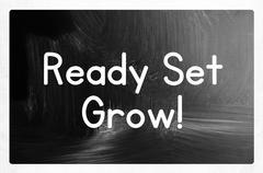 Stock Illustration of ready set grow concept
