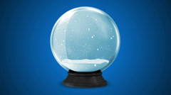 Crystal Ball with Falling Snow Inside Stock Footage