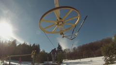 Ski-lift Stock Footage