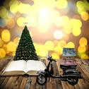 Stock Illustration of Travel with motorcycles in Christmas day, Guidebook concept