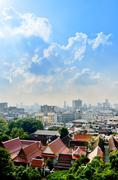 Stock Photo of bangkok cityscape with nice blue sky