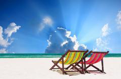 Stock Photo of beach chairs