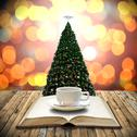 Stock Illustration of Drink coffee with bible in Christmas day concept