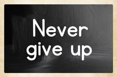 Stock Illustration of never give up concept