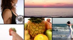 Joy, vitamins, fitness, beauty Stock Footage