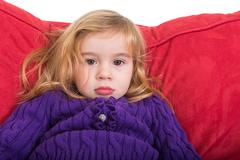 Solemn beautiful young girl Stock Photos