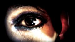 Eye macro woman mystery Stock Footage